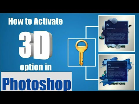 Download How To Add 3d Option In Photoshop 2018 Updated   Dangdut Mania