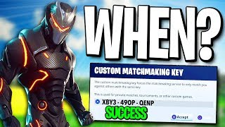 custom matchmaking key fortnite june 2018