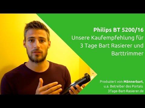Bester 3 Tage Bart Rasierer: Kaufempfehlung Philips BT5200/16 im Test