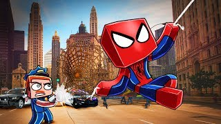 Minecraft | SPIDERMAN GETS ARRESTED! (Stupid Place)