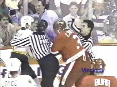 Cam Neely vs. Steve Chiasson