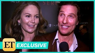 Diane Lane Reacts To Matthew McConaughey Admitting He Once Had A Crush On Her(Exclusive)