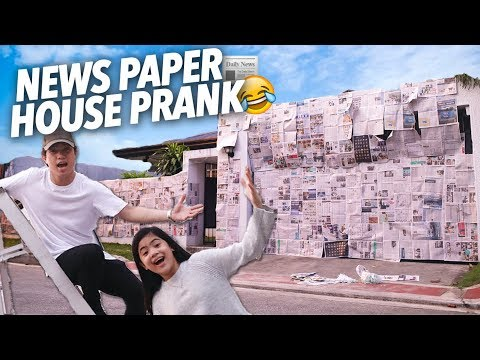 News Paper House Prank On Parents! | Ranz and Niana