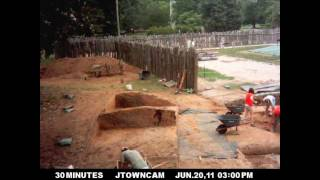 preview picture of video 'Confederate Civil War Fort Excavation: Fort Pocahontas on Jamestown Island in Virginia'