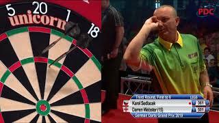 Karel Sedlacek vs. Darren Webster | German Darts Grand Prix 2019 | Round 3