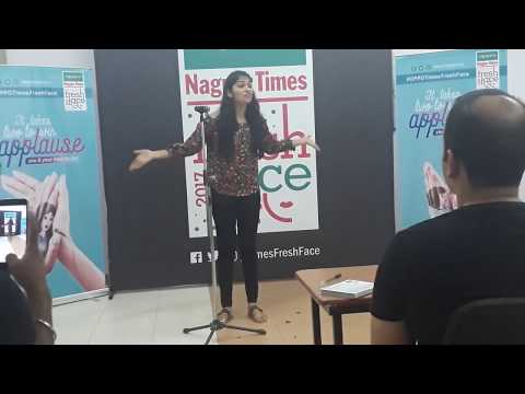 My performance at OPPO Times Fresh Face Nagpur Semi-Finals which led me to the City Finale :)