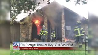 Fire Damages Home on Highway 68 in Cedar Bluff