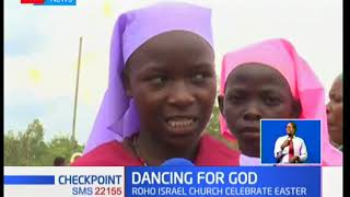 Members of Legio Maria church in Kisumu stopped traffic with their colourful easter celebrations.