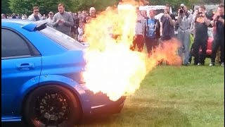 Subaru Impreza LOUD Pops, Backfire and HUGE flames