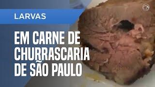 Churrascaria em SP é acusada de servir carne de costela com larvas