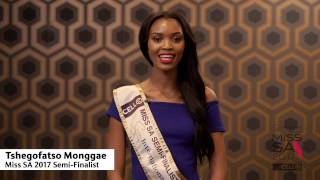 Introduction Video of Tshegofatso Monggae Miss South Africa 2017 Contestant from Dobsonville, Gauteng