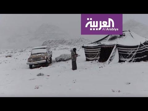 العرب اليوم - شاهد: الصور التي التقطها سعوديون للثلوج التي غطت المناطق الشمالية