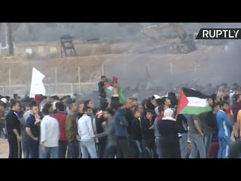 Palestinians continue protesting along Gaza border with Israel