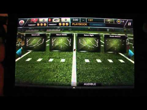 Madden Football 2012 on the Amazon Kindle Fire