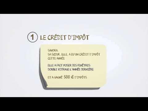 comment declarer credit d'impot en concubinage