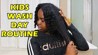 My Daughters Summer Natural Hair Wash Day For Kids | DiscoveringNatural