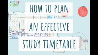 How To Make An Effective Study Timetable | Study Effectively (2020)