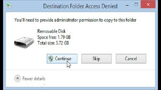 You'll need to provide administrator permission to copy this file or folder