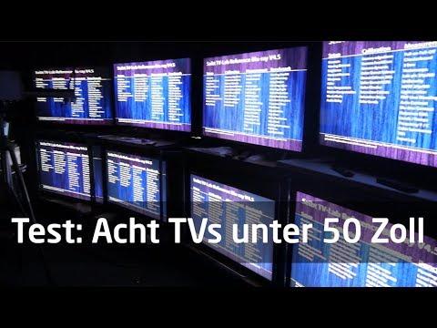 Testfazit: Acht TVs unter 50 Zoll
