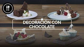 Cuatro formas fáciles y lucidas de decorar con chocolate | Directo al Paladar
