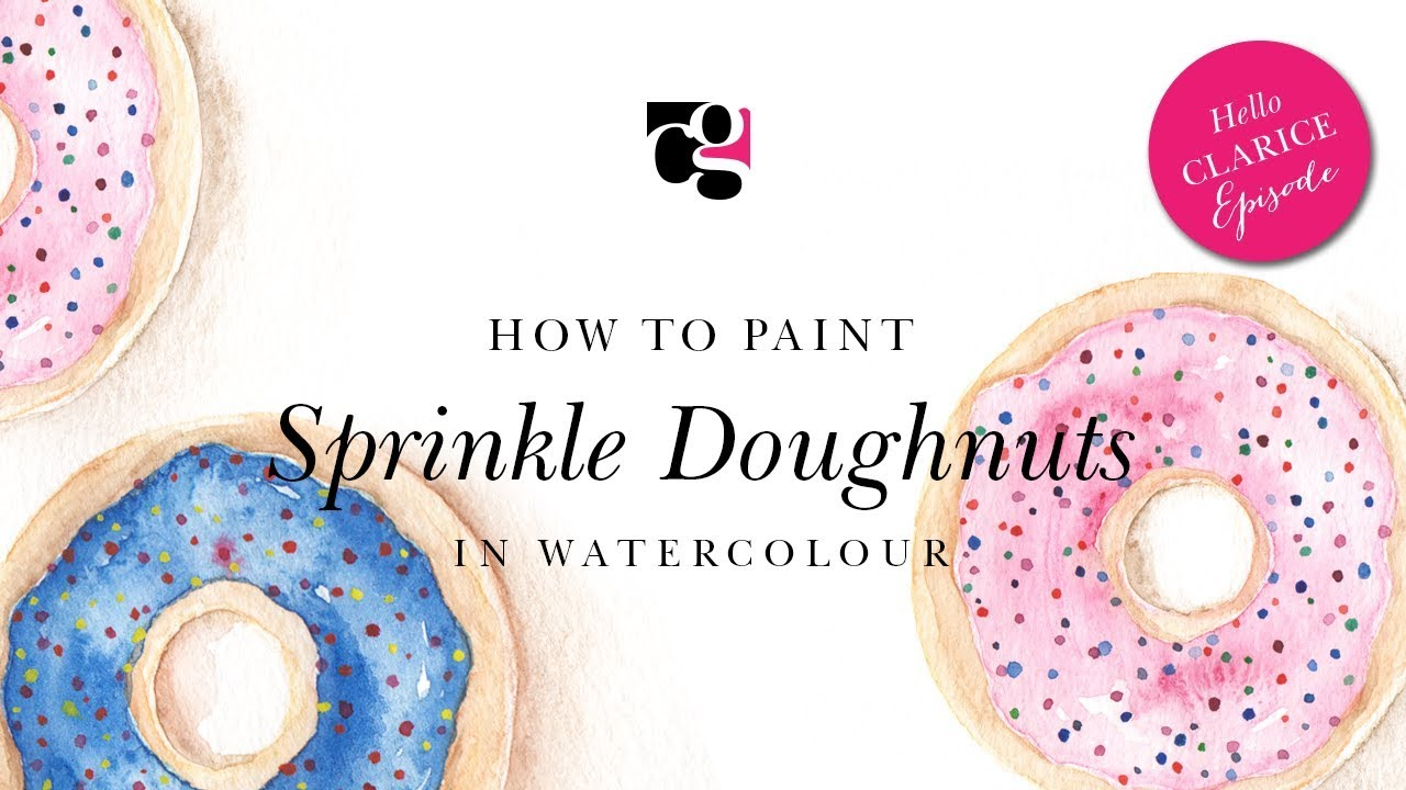 How to Paint Sprinkle Doughnuts in Watercolour