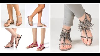 Flat Sandals For Women 2020=VeryComfortable Flat Sandal Design For Ladies=FSBS