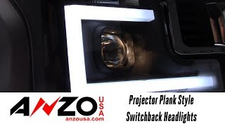 In the Garage™ with Total Truck Centers™: AnzoUSA Projector Plank Style Switchback Headlights