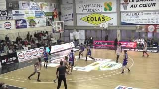 Les Flammes Carolo Basket vs Montpellier.