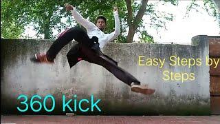 Taekwondo 360 Kick Tutorial in Hindi / Turning 360 Kick Tutorial
