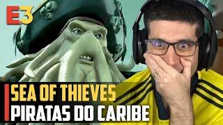 Sea Of Thieves e Piratas do Caribe COM DAVY JONES, Perdi a Linha Nesse Trailer