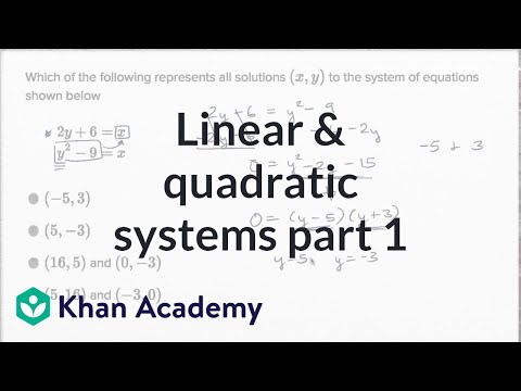 Linear and quadratic systems — Basic example (video