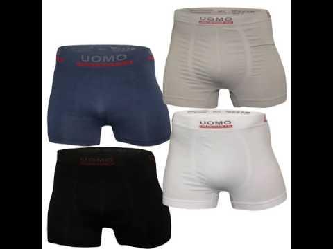 Herren Boxershort 4er Pack UOMO Unterhose Polyamid Elasthan IDEAL für SPORT