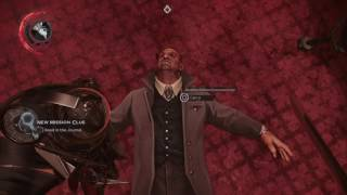 Non lethal choke on Aramis Stilton (A Crack in the Slab) Dishonored 2