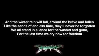 DragonForce - Wings Of Liberty | Lyrics on screen | HD