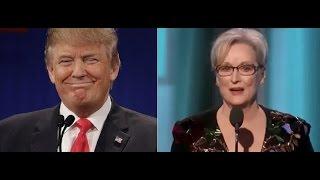 Meryl Streep Attacks Trump At Golden Globes Speech And Trump Takes On Streep