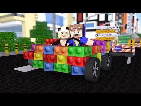 WIR BAUEN EIN XXL LEGO AUTO IN MINECRAFT!