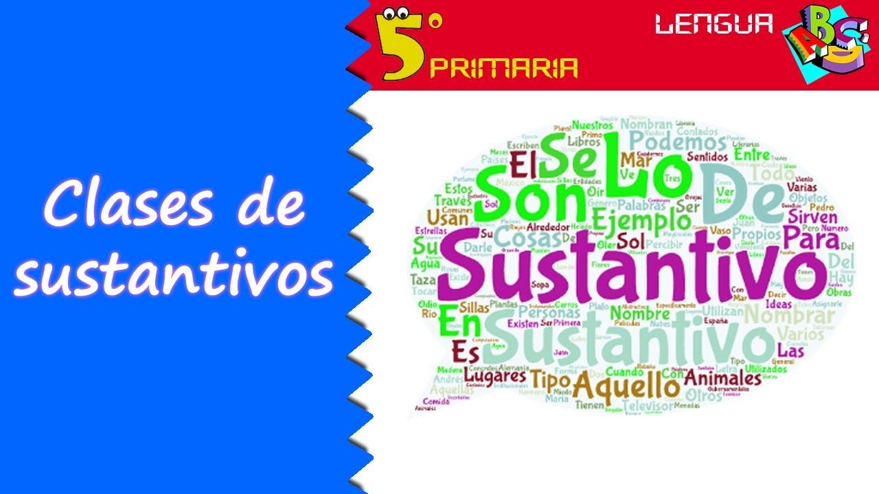 Sustantivos y sus clases. Lengua, 5º Primaria. Tema 2
