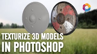 Texturize and use 3D Models in Photoshop