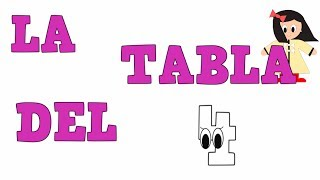 La Tabla del 4 - Tablas de Multiplicar - Vídeos educativos para Niñosy Bebés - Paty y Poty
