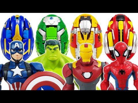 Iron Man, Avengers, Carbot Kung! Go~! Hulk, Spider-Man, Thor, Captain America, Thanos