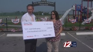Memorial Playground Receives Boost from Hair Salon