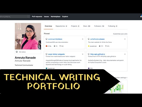 My Technical Writing Portfolio (ft. GitHub and open source projects)