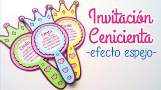 CUMPLEAÑOS CENICIENTA - INVITACIÓN