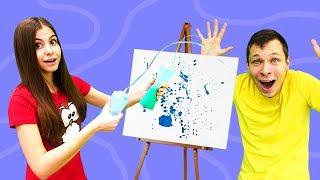 Блинный челлендж Вики и Федора. Видео для детей.