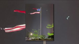 Worlds Largest Free-flying American Flag Damaged After Strong Winds