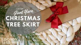 Christmas Tree Skirt Knit With Giant Yarn-Fast And Easy!