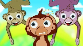 Five Little Monkeys Jumping On The Bed | Nursery Rhymes Songs for Children by HooplaKidz