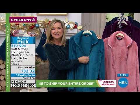 Soft   Cozy Loungewear Plush ZipFront Long Robe