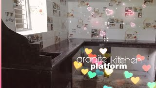 granite kitchen platform and tiles 2018
