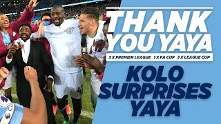 KOLO SURPRISES YAYA! | Yaya Toure Goodbye